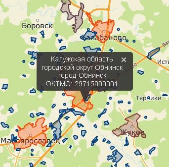 Рисунок 2 - Обратное геокодирование, поиск и отображение ближайших объектов на карте, теплокарта населения